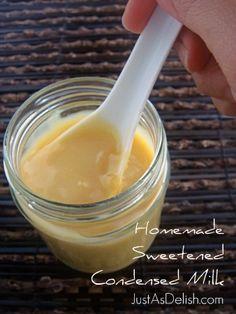 Sweetened Condensed Milk   Just as Delish