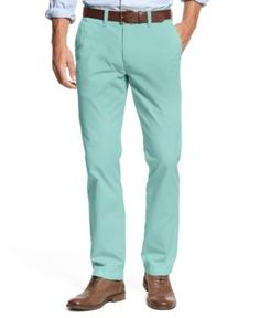 Tommy Hilfiger Men's Custom Fit Chino Pants - Blue 34x30