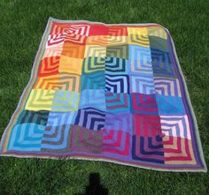 Yes, I'm pinning my own knit. I just love this blanket!