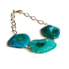 Agate+Quartz+Statement+Necklace,+$180, now featured on Fab.