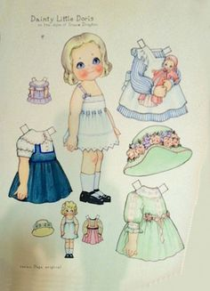 My sister and I had so much fun with these Paper Dolls and if we could still play with them we would.....
