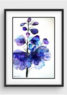 Buy Purple. Botanical series #3, Watercolor by Olena Granovska on Artfinder. Discover thousands of other original paintings, prints, sculptures and photography from independent artists.