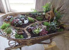 Wheelbarrow Fairy Garden Ideas That You Will Love | The WHOot