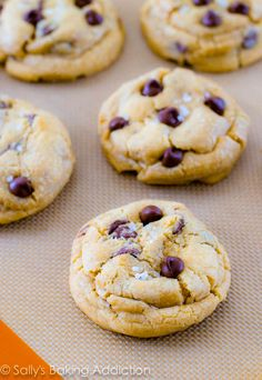 Salted Caramel Chocolate Chip Cookies. These extremely thick, soft, and chewy chocolate chip cookies are stuffed with gooey caramel a...
