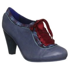 Blue oxford pumps.  Love the name of the shoe: Poetic License