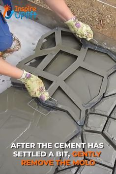 With the Garden Path Maker Mold you can create a gorgeous, cement (or red mud) garden path to enhance the beauty of your outdoor space. This paving mold consists of irregular-shaped holes, which hold the cement slurry and allow you to smooth…Read Backyard Projects, Outdoor Projects, Backyard Patio, Garden Projects, Garden Tools, Diy Garden, Diy Patio, Edible Garden, Dream Garden