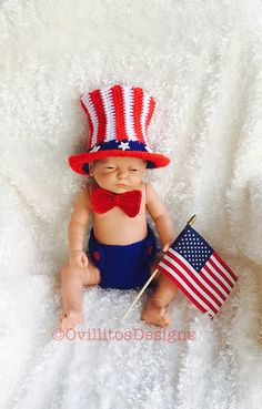 4th of July baby outfit,Uncle Sam outfit,newborn 4th of July photo prop, baby shower gift, patriotic baby set, 4th July baby photography