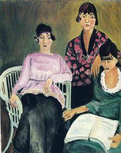 As três irmãs, 1917 Henri Matisse (França, 1869-1954) óleo sobre tela Musée de l'Orangerie, Paris