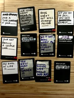 Awesome hilarious and creative ideas for blank cards in cards of humanity black cards, confusing Two card answers and stupid cards Cards Of Humanity, Cards Against Humanity, Diy Games, Party Games, Black Card, Hilarious, Funny, Game Night, Family Life