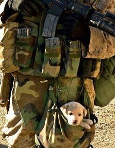 some people say that the military have no heart because they kill people...well i think this picture says it all <3