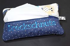 Feuchttüchertasche Feuchttücher 80er Packung Windeltasche Eule Blau Neu