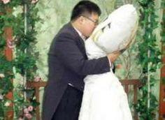 Korean Man Lee Jin-gyu Marries Anime Body Pillow #romance trendhunter.com