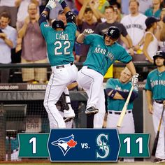 King Felix continues his dominant stretch, #Mariners offense explodes in 11-1 victory over Toronto. 8/11/14
