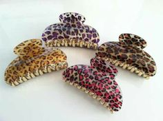 Leopard hair clips