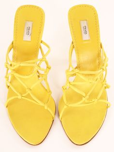 Yellow Prada heels