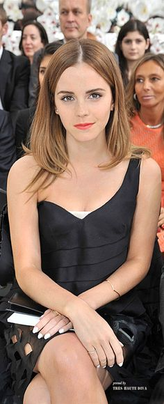 Emma Watson in the front row at Christian Dior Autumn/Winter 2014-2015 Couture