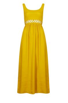 Love: TOPSHOP Yellow Maxi Dress with Lace