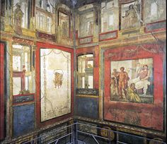 Fourth Style. Mau's Intricate Style. painting, Ixion Room, House of the Vetii, Pompeii, 1st century C.E.