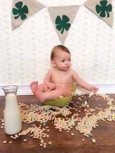 St. Patricks Day Baby Photo. My little buddy