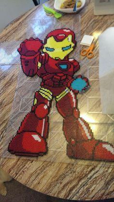 Iron Man perler beads by indidolph