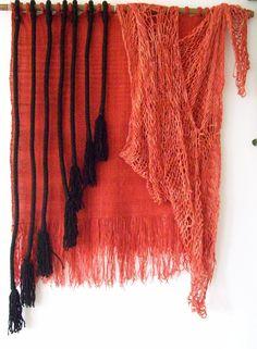 tapiz realizado en telar de peine y sprang. Pin from Telar Taller De Ana Maria Seguic