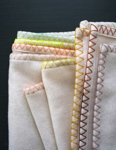 Blanket edge-maybe buy a pre-hemmed blanket then add the stitch.