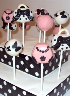 cake pops - paris party - by sugar parlour