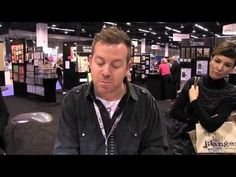 Video Demo - Long, but I love watching Tim play with these! ▶ Tim Holtz Alcohol Ink Techniques - CHA Winter 2014 - YouTube