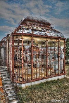 Steampunk Tendencies -Abandoned 19th century Greenhouse, France Photo :...