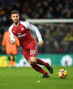 Shkodran Mutafi of Arsenal during the Premier League match between West Bromwich Albion and Arsenal at The Hawthorns on December 31, 2017 in West Bromwich, England.