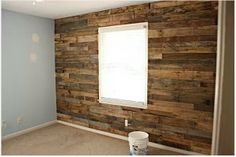 DIY Accent Wall Using Pallets