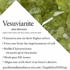 Vesuvianite (aka Idocrase) crystal meaning