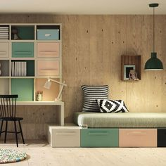 Picture result from Lagrama - Teen Bedroom ideas - - Playroom Layout, Design Hall, Room Interior, Interior Design, Student Room, Teen Bedroom, Bedroom Ideas, Kids Room Design, Boy Room