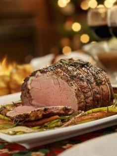 Roast beef con verduras al horno