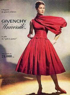 Givenchy Summer Dress,1956    Photo Guy Arsac