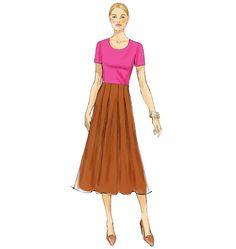 V9061, Misses' Skirt
