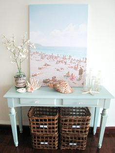 a designer obsessed with pretty things, beautiful spaces, interesting places and...handbags!: [ my big beach art ]