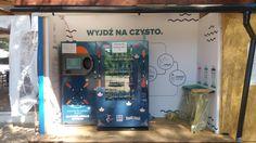 Wyjdź na czysto. Automat recyklingowy w Aquatica Beach Bar. fot. Aleksandra Mysiorska
