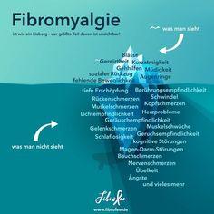 Fibromyalgie ist wie ein Eisberg - der größte Teil davon ist unsichtbar! Willst du mehr über Fibromyalgie wissen? Dann lies weiter auf meinem Blog. Tags: chronisch krank, Rheuma, Schmerzen, fibromyalgia, unsichtbare Erkrankung, unsichtbare Behinderung, Infografik, infographic, Fatigue, Symptome