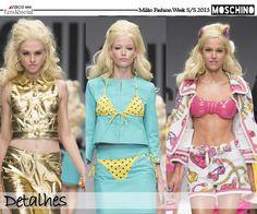 Desfile Moschino Primavera/Verão 2015 - Coleção Barbie ( Jeremy Scott)  http://viroutendencia.com/2014/09/26/a-colecao-barbie-da-moschino-primaveraverao-2015/