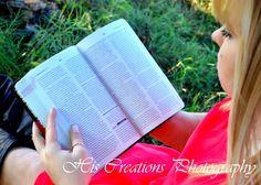 senior photography christian bible read books