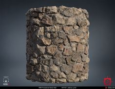 ArtStation - PBR Procedural Stone Wall Material Study, Joshua Lynch