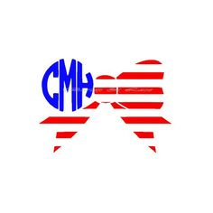 Preppy American Flag Bow With Monogram So Cute for Memorial Day ($20) ❤ liked on Polyvore featuring intimates, random, black and women's clothing