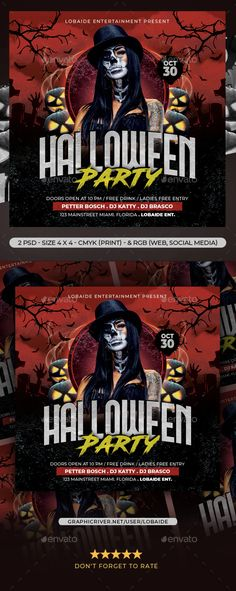 Buy Halloween Flyer by lobaide on GraphicRiver. Files Included: 2 PSD file 1 Readme text file Detail : Photoshop file + Bleed Organized layer and grouped PRINT. Dj Free, Halloween Party Flyer, Image Model, Flyer Template, Photoshop