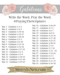 Write the Word Galatians