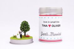 Personalized Wedding Tin  Just Married . Gift of money . made to order . custom work