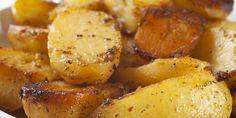 Greek Potatoes -roasted-potatoes-with-garlic-lemon-and-oregano. Greek Roasted Potatoes, Greek Potatoes, Lemon Potatoes, Roasted Garlic, Boil Potatoes, Butter Potatoes, Rosemary Potatoes, Yellow Potatoes, Baked Potatoes