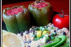 Stuffed peppers: Very tasty...quick and easy.