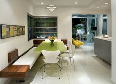 Modern take on banquette seating