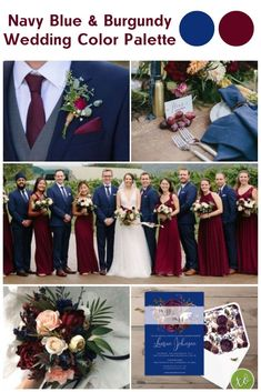We& all for a dramatic wedding color palette and the combination of navy blue and burgundy certainly has it all! Check out our boho bridal shower invitations in this color palette to match them to your wedding! Burgendy Wedding, Navy And Burgundy Wedding, Burgundy Wedding Colors, Navy Blue Wedding Theme, Navy Bridal Shower, Blue Bridal, Before Wedding, Marie, Shower Invitations